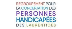 Logo Regroupement pour la concertation des personnes handicapées des Laurentides