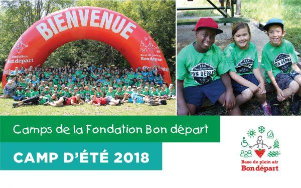 Inscrivez un jeune pour les camps de la Fondation Bon départ