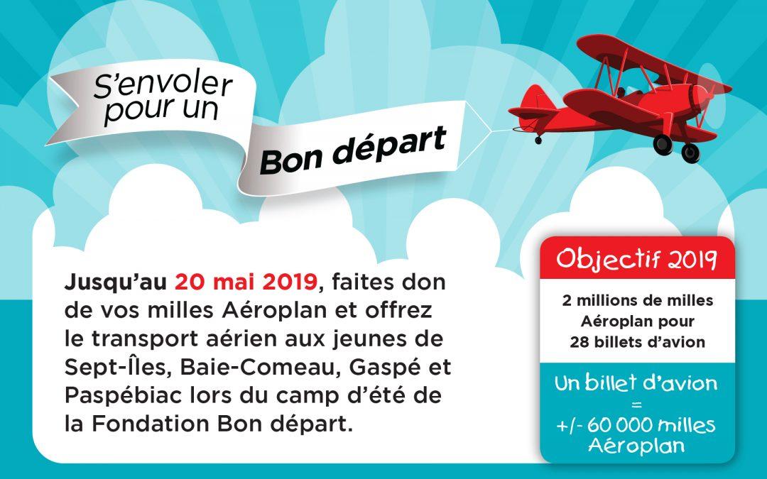 C'est aujourd'hui que la campagne Aéroplan 2019 prend son envol